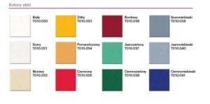 1289557266kolory obic 300x148 - BTL-1500 3-silnikowy fotel ginekologiczny z pamięcią