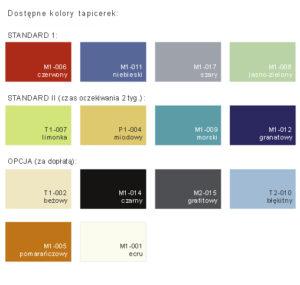 1309334244kolory 300x285 - Duoplan Luxe Czteroczęściowy stół rehabilitacyjny z regulacją za pomocą ramy