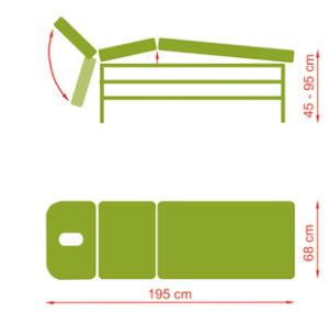 1329822737studio l el hl 2 300x285 - Studio, E, H stacjonarny stół do masażu