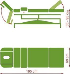 1329826441clinical e h 2 283x300 - Clinical E, H stacjonarny stół do masażu