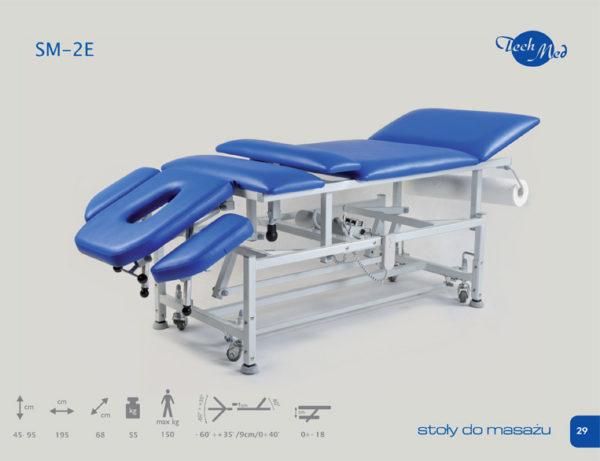 SM-2 E Stół do masażu z elektryczną regulacją wysokości