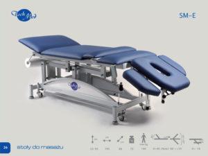 SM-E Stół do masażu z elektyryczną regulacją wysokości