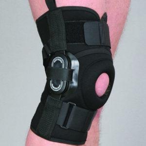 Orteza stawu kolanowego stabilizująca z regulacją kąta zgięcia co 20 stopni (neopren perforowany)