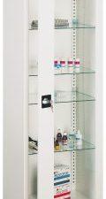 Szafa lekarska jednoczęściowa (drzwi szklone), metalowa