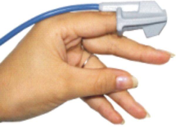 Gumowy czujnik saturacji na palec dla dzieci