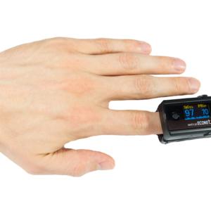 Pulsoksymetry i ciśnieniomierze. Medical-econet ME 10 pulsoksymetr palcowy.