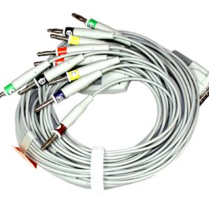 EKG. Medical-econet kabel pacjenta z wtyczką bananową 4mm.