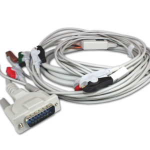 EKG. Medical-econet kabel pacjenta ze złączką zaciskową.